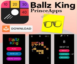 Ballz King | Addictive Gameplay by PrinceApps | SahilDvlprs - https://sahildvlprs.blogspot.com
