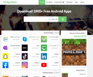 متجر التطبيقات HI App Store للتحميل العاب وبرامج الاندرويد - https://www.hi-apps.tk/